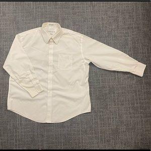 Men's Shirt Off White 100% Cotton Joseph & Feiss